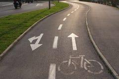 Pista ciclabile nel viaggio di Europa - di Capodistria, Slovenia Immagini Stock Libere da Diritti