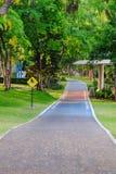 Pista ciclabile in parco pubblico Fotografia Stock Libera da Diritti
