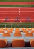 Pista corrente dello stadio Fotografia Stock Libera da Diritti