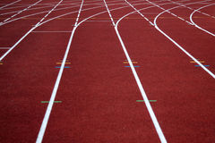 Pista corrente di atletismo Fotografie Stock