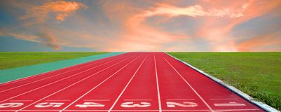 Pista corrente per gli atleti fondo, atleta Track fotografie stock