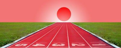 Pista corrente per gli atleti fondo, atleta Track immagine stock libera da diritti