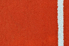 Pista corriente con la línea blanca textura Fotografía de archivo
