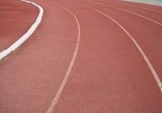 Pista corriente del atletismo Fotos de archivo libres de regalías