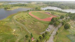 pista corriente del centro de deportes Imagen de archivo