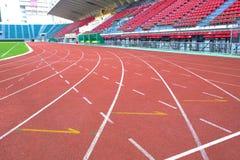 Pista corriente en estadio del nacional de Supachalasai Imagen de archivo libre de regalías