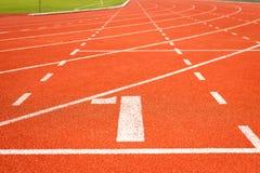 Pista corriente para el atletismo Imagen de archivo