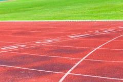 Pista corriente para el fondo de los atletas Imágenes de archivo libres de regalías
