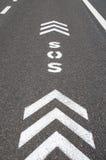 Pista da autoestrada da emergência do SOS Imagens de Stock Royalty Free