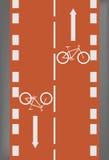 Pista da bicicleta ilustração do vetor