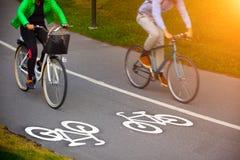 Pista da bicicleta fotografia de stock royalty free