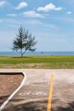 Pista da bicicleta perto da praia Fotos de Stock Royalty Free