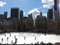 Pista da patinagem no gelo do Central Park Imagem de Stock Royalty Free