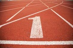 Pista da trilha do atletismo do fundo da textura Imagem de Stock Royalty Free