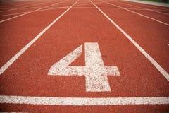 Pista da trilha do atletismo do fundo da textura Fotografia de Stock Royalty Free
