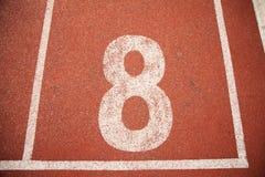Pista da trilha do atletismo do fundo da textura Foto de Stock