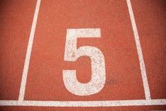 Pista da trilha do atletismo do fundo da textura Imagens de Stock