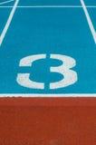 Pista da trilha do atletismo no estádio Imagens de Stock Royalty Free