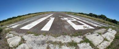 Pista de aterragem da ilha Fotografia de Stock