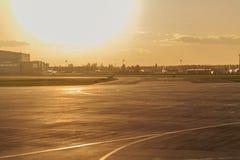 Pista de aterrissagem no aeroporto Foto de Stock