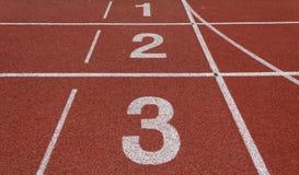 Pista de atletismo Foto de Stock Royalty Free