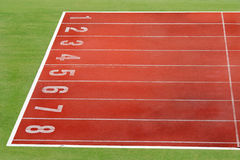 Pista de atletismo Fotografia de Stock