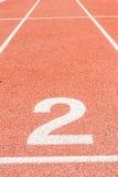 Pista de atletismo número dois Imagem de Stock