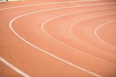 Pista de atletismo no estádio Imagens de Stock