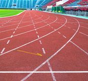 Pista de atletismo no estádio do nacional de Supachalasai Foto de Stock Royalty Free