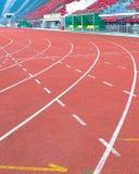 Pista de atletismo no estádio do nacional de Supachalasai Fotos de Stock Royalty Free