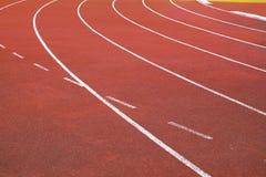 Pista de atletismo no estádio do nacional de Supachalasai Imagens de Stock