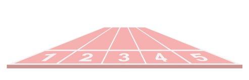 Pista de atletismo no projeto cor-de-rosa ilustração stock