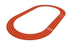 Pista de atletismo padrão Imagem de Stock