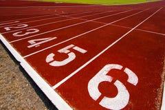 Pista de atletismo para o esporte popular Foto de Stock Royalty Free