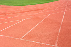 Pista de atletismo para o fundo dos atletas Imagem de Stock