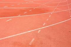 Pista de atletismo para o fundo dos atletas Imagem de Stock Royalty Free