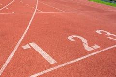Pista de atletismo para o fundo dos atletas Imagens de Stock Royalty Free