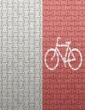 Pista de bicicleta vermelha ilustração royalty free