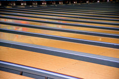 Pista de bowling Foto de Stock