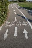 Pista de Bycicle no parque Foto de Stock Royalty Free