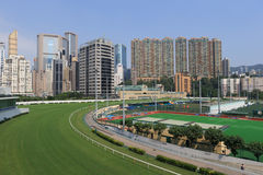 Pista de corridas feliz do vale em Hong Kong Foto de Stock Royalty Free