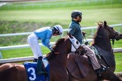 Pista de corridas - jóquei de Keeneland Foto de Stock Royalty Free