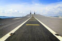 A pista de decolagem da navio de guerra, Sattahip Tailândia Imagem de Stock