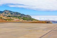 Pista de decolagem do aeroporto de Madeira Fotografia de Stock Royalty Free