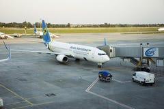 Pista de decolagem do aeroporto internacional de Kiev Boryspil em Kiev, Ucrânia Imagens de Stock