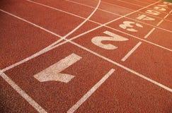 Pista de decolagem do atletismo Fotos de Stock