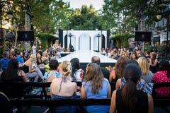 Pista de decolagem do desfile de moda Fotografia de Stock Royalty Free