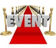 Pista de decolagem exclusiva do evento do VIP do tapete vermelho da palavra do evento Foto de Stock Royalty Free