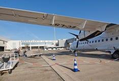 Pista de despeque del aeropuerto de Ibiza Fotos de archivo