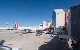 Pista de despeque del aeropuerto de Palma Imagenes de archivo